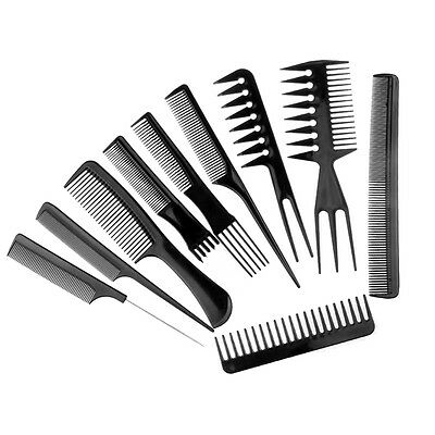 Set 10 Pettine Capelli Dentati Acconciatura Misti Parrucchiere Pettini Barbiere