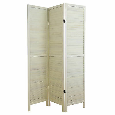 SALE Cream 3 Panel Wooden Room Divider Home Privacy Screen - DAMAGED PACKET #781