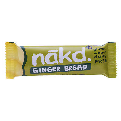 Nakd Ginger Bread Gluten Free Bar 35 G (Pack Of 18)