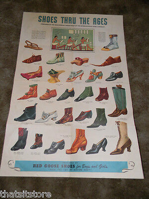 Red Goose Shoes Poster Colorful Shoes Thru The Ages 41 X 27 Large Poster L@@k