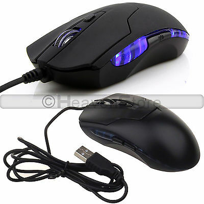 2400 Dpi 6 Button Led Optical Usb Wired Mouse Gaming Mice For Pc Laptop Bs Uk