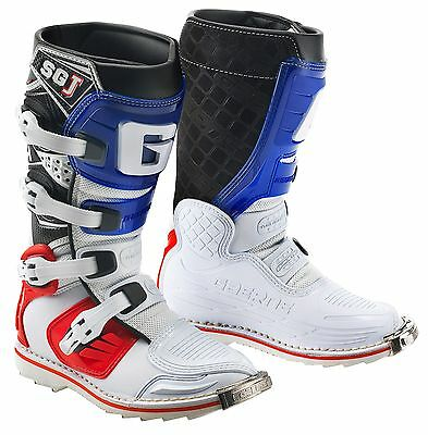 Gaerne Sgj White/blue/red Kids Mx Boots, Motocross, Enduro, Off Road Boots