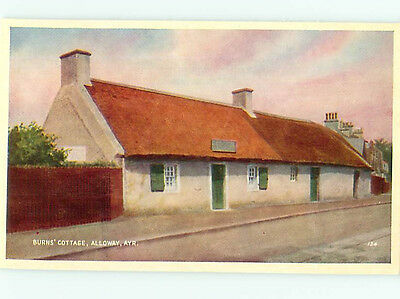 England Monument Tea Garden  Cottage  Alloway AYR  856  Postcard # 6367