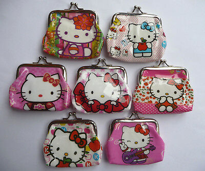 HELLO KITTY Girls Childrens Coin Purse 8 designs party bag filler Lot NEW