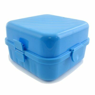 Lunchbox blau 4 Fächer 1250 ml Vesperdose Brotdose Kinder Brotzeitdose Vesperbox