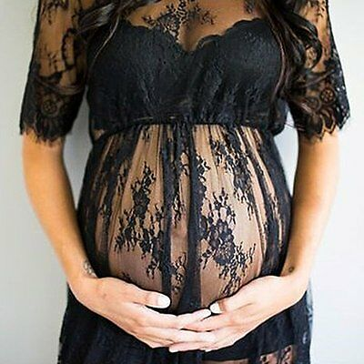 Lace Pregnant Women Maxi Dresses Maternity Gown Photography Props Photo Shoot