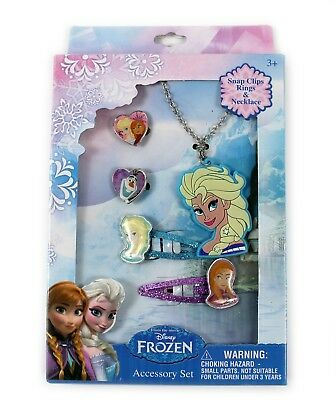 New Disney Necklace & Bracelet Set Frozen Princess Kids Children Jewellery Gift