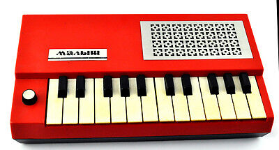 Vintage Russian Mini KEYBOARD PIANO SYNTHESIZER MALYISH