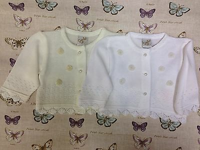 Romany Spanish Baby bolero cardigan girl christening bridesmaid wedding circle