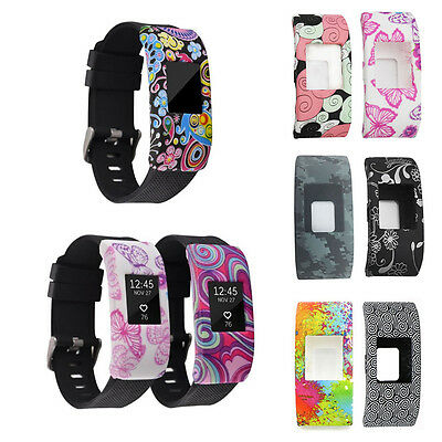 Band Cover for Fitbit Charge 2, Silicone Rubber Sleeve Protect Case Screen Prote