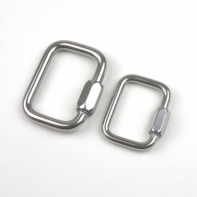 Sets - Stainless Steel T316 Square Quick Link - Webbing Connecting Link - 3/8""
