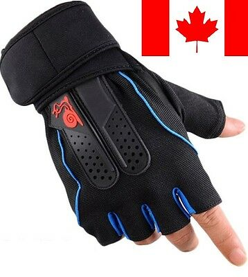 New Weight Lifting Gym Fitness Workout Training Exercise Half Gloves