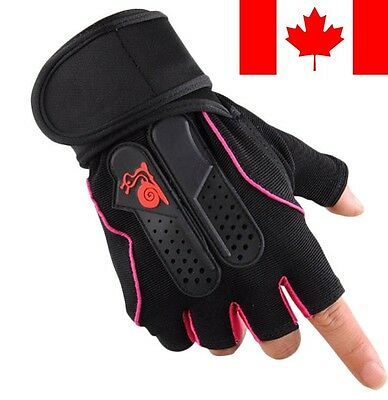 Pink Weight Lifting Gym Fitness Workout Training Exercise Half Gloves