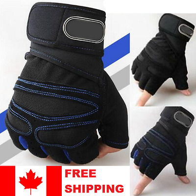 Weight lifting Gym Gloves Elite Fitness Wrist Wrap Workout Exercise Sports