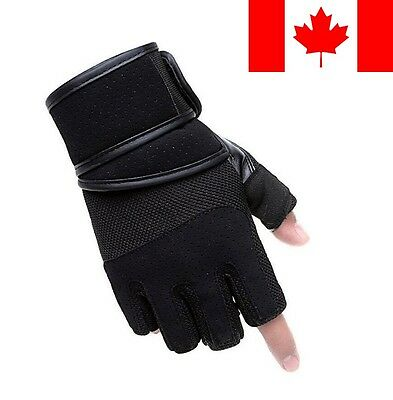 Weight Lifting Gym Strap Gloves Strength Training Wrist Wrap For Men Support Bla