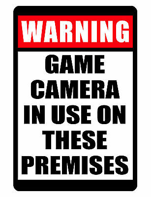 NO TRESPASSING Sign Game Camera Use DURABLE WEATHER PROOF ALUMINUM SIGN