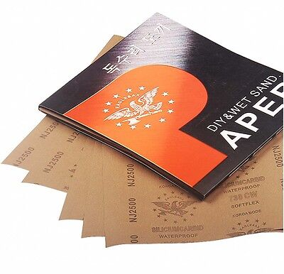 "9"" x 11"" Wet And Dry Sandpaper 2500 3000 5000 7000 10000 Grit Abrasive Paper"