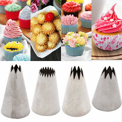 Fab New Large Open Star Icing Piping Nozzle Cake Decorating Pastry Tips Tool