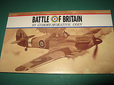 Battle of Britain 50th Anniversary $5.00 coin Spitfire Marshall Islands 1990
