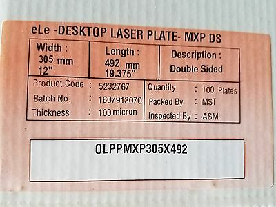 Polyester Laser Plates (2-Sided) 12 x 19-3/8 (100 Plates) Xante / HP 5000/5100