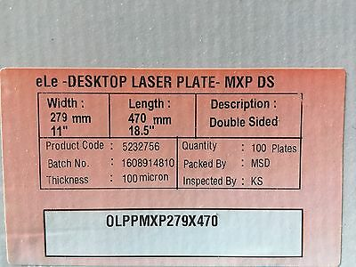 "Polyester Plates / Laser Plates 11"" x 18.5"" HP5000 XANTE 2 SIDED"
