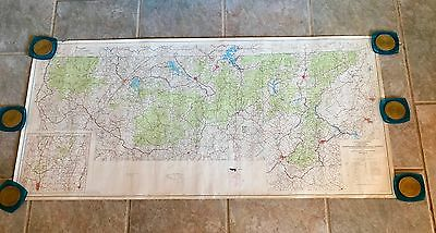 "Vintage Map Georgia Forest Service 1967 dept. of agriculture 52"" x 25"""