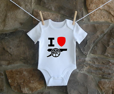 Arsenal Gooner Babygrow Bodysuit Baby Clothes New Baby Boy Girl