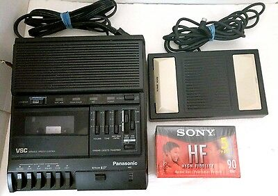 Panasonic RR-830 Cassette Transcriber Dictaphone Recorder Foot Pedal Sony Tapes
