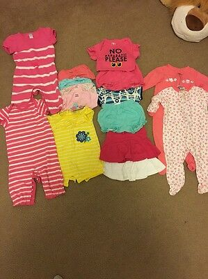 Baby Girl Lot Of Summer Spring Clothes Size 3-6 Months