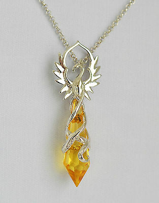 Anne Stokes Crystal Keeper CK11 Phoenix Flame Necklace