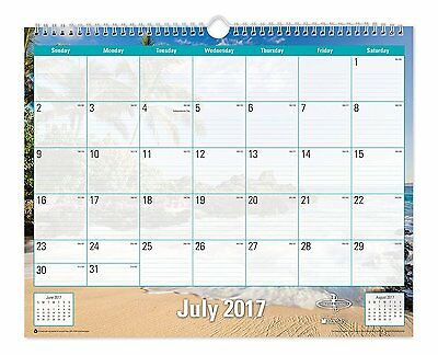 "Blue Sky 2017-2018 Academic Year Wall Calendar, Wire-O Binding, 15"" x 12"","