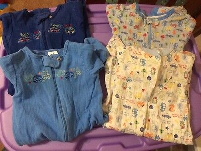 Gerber Baby Boys Lot Of 4 Footed Sleepers Size 3-6M