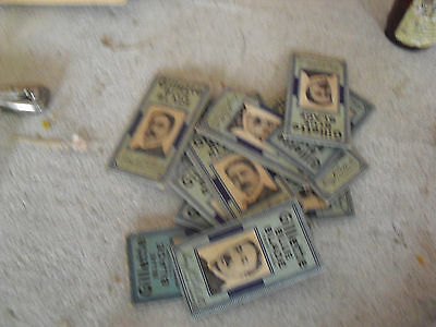 Lot of 12 Vintage Gillette Blue Blade Packs LOOK