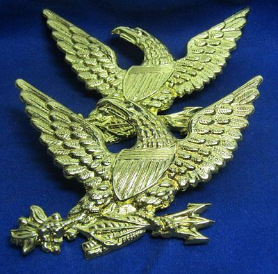 Civil War REPRODUCTION Army Officer Eagle 3 1/8 Inch Badges Lot Of 2