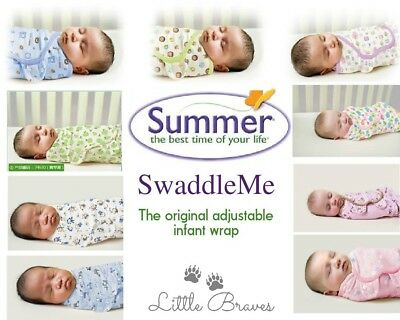 Genuine Summer (Kiddopotamus) SwaddleMe baby swaddle wrap blanket ~ Aus stock