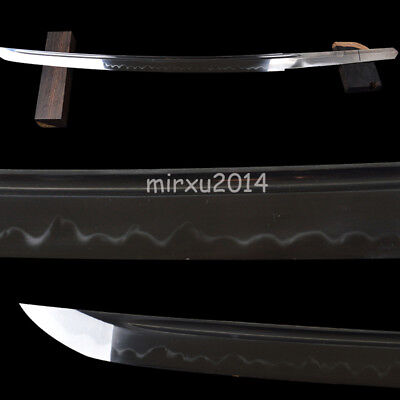 1095 high carbon steel CLAY TEMPERED naked blade for Japanese wakizashi swords