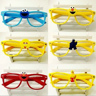 Party Kids Square Glasses Cartoon Sesame Street Children No Lens Frames Glasses