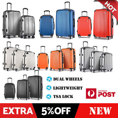 1/2/3 Luggage Suitcase Trolley Set TSA Carry On Hard Case Lightweight Travel Bag