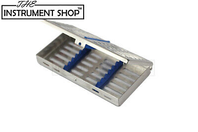 Blue silicone Sterilisation cassette of 5 for dental vet instruments