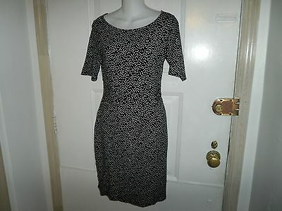 Ann Taylor Pretty Black And White  Career  Dress Size 2