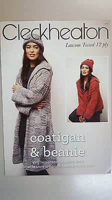 Cleckheaton Pattern Book #1011 Coatigan & Beanie to Knit in 12 Ply Lawson Tweed