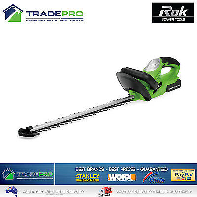 Hedge Trimmer Rok® 18v Cordless Shrub Cutter Hi Torque with Battery & Charger