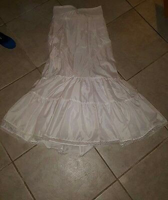 White Mermaid Wedding Dress Petticoat / Crinoline / Skirt Slip sz 16