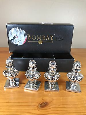 Set of 4 Bombay Company Paperweights Ornaments Decorative Desk Accessories