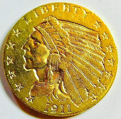 1911 $2.50 Gold Indian Head
