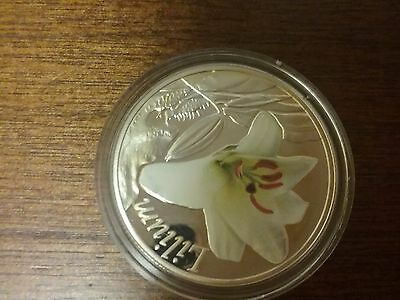 Belarus 2013 10 rubles Lilia Proof Silver Coin
