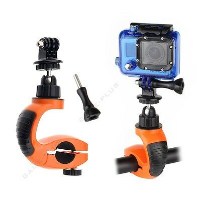 Motorcycle Bike Handlebar Mount Holder w/ Tripod Adapter for GoPro Hero 5 4 3+ 2