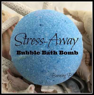 STRESS-AWAY Aromatherapy Bubble Bath Bomb PURE,HANDMADE Essential Oils 160g