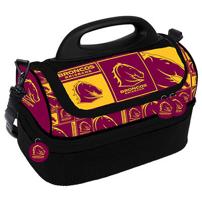 NRL Lunch Cooler Bag - Brisbane Broncos - Insulated Cooler Bag - Lunch Box
