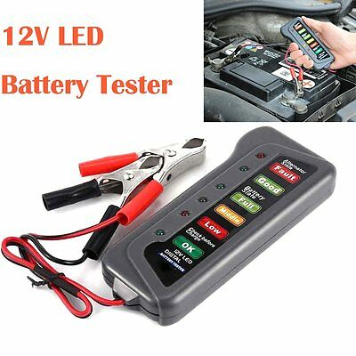12V LED Digital Battery / Alternator Tester with 6 LED Lights Display Car Auto